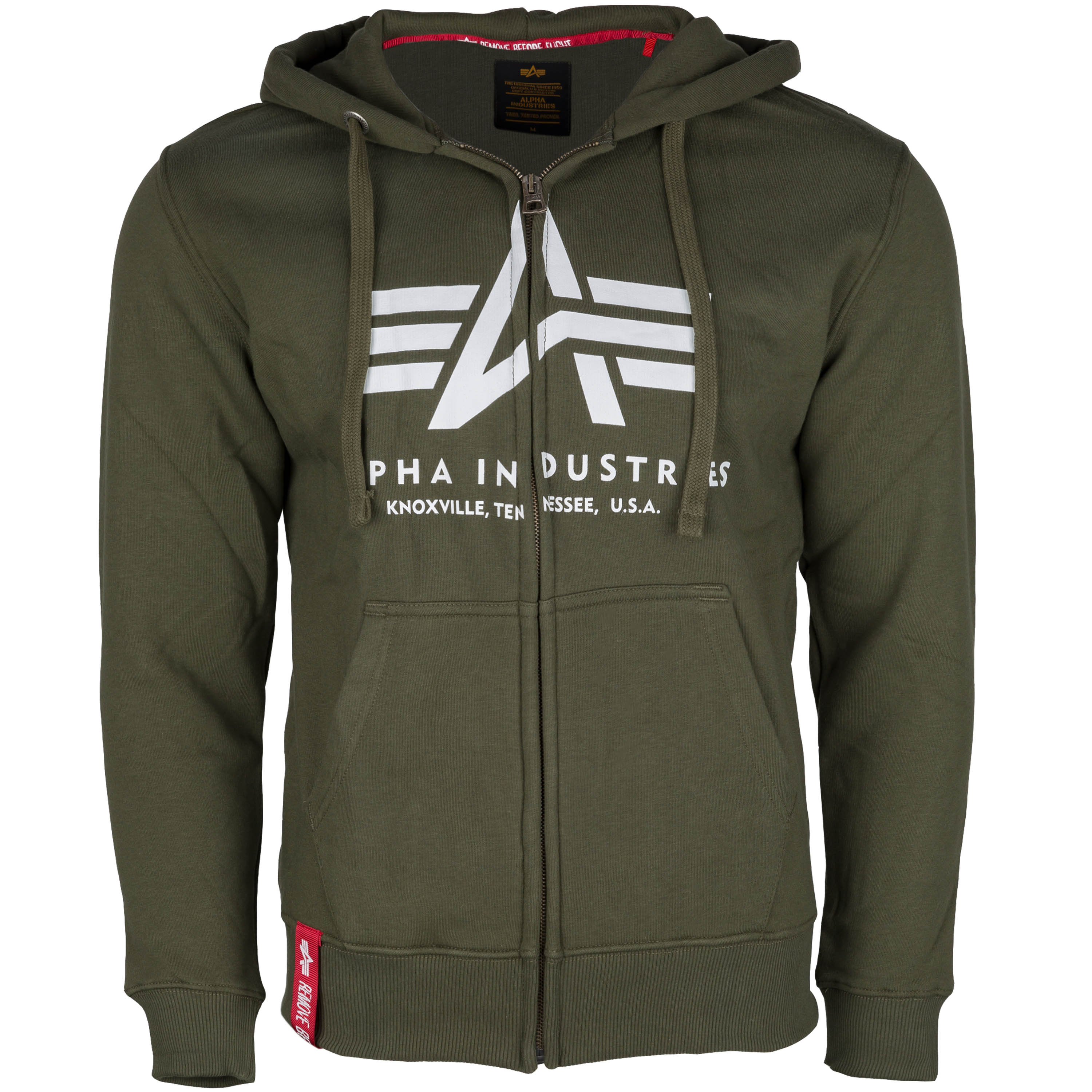 Alpha Industries Hoodie Basic Zip dark green