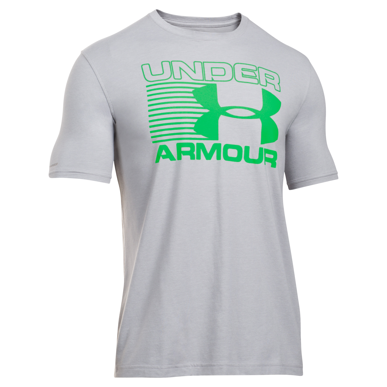 Under Armour Shirt Blitz Logo grau-grün