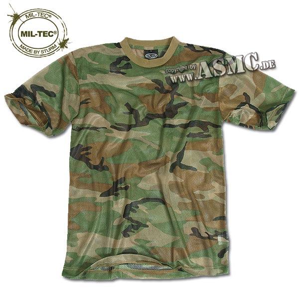 T-Shirt Mesh woodland
