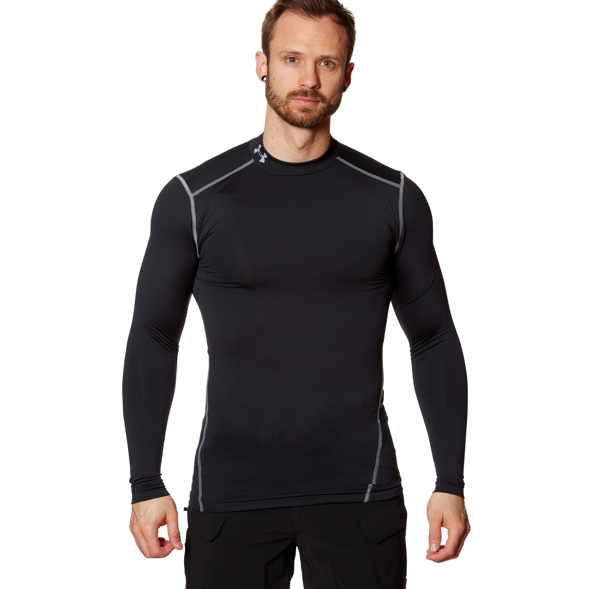 Under Armour ColdGear Compression Mock Shirt schwarz