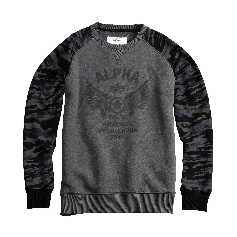 Alpha Industries Rescue Crew Neck dunkelgrau