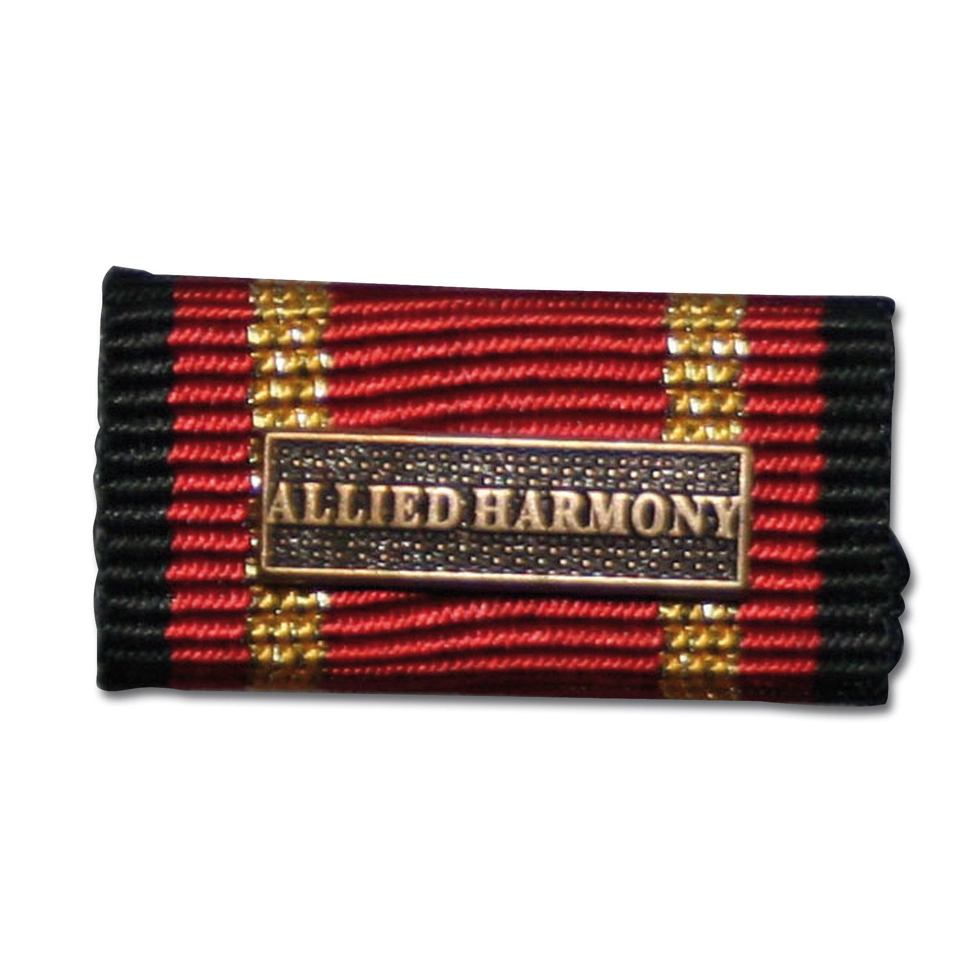 Ordensspange Auslandseinsatz ALLIED HARMONY bronze