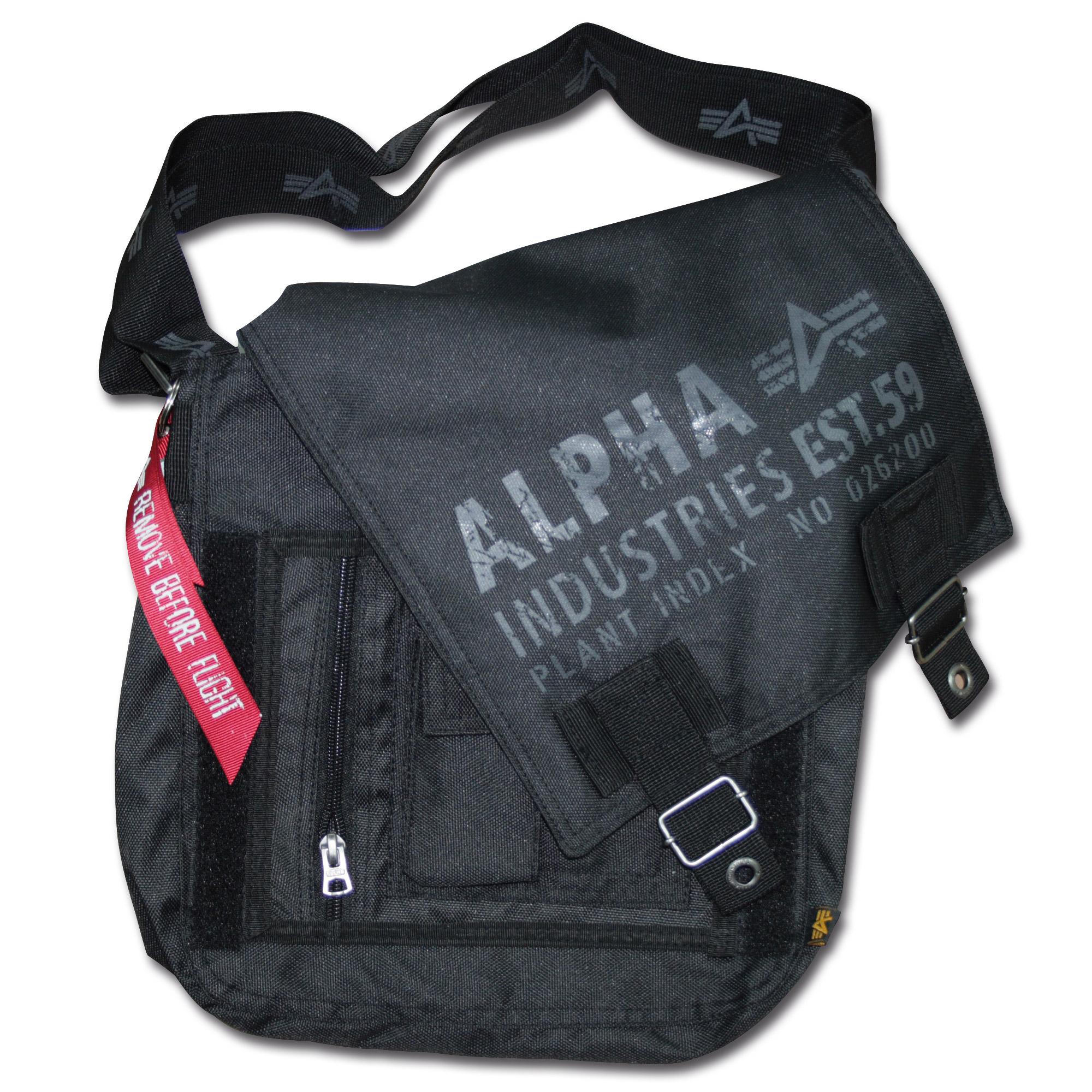 Alpha Industries Cargo Oxford Utility Bag schwarz