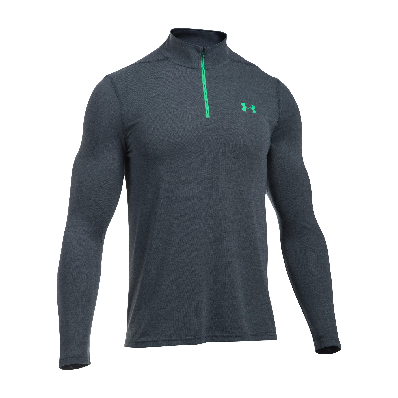 Under Armour Fitness Langarmshirt Threadborne 1/4 Zip grau grün