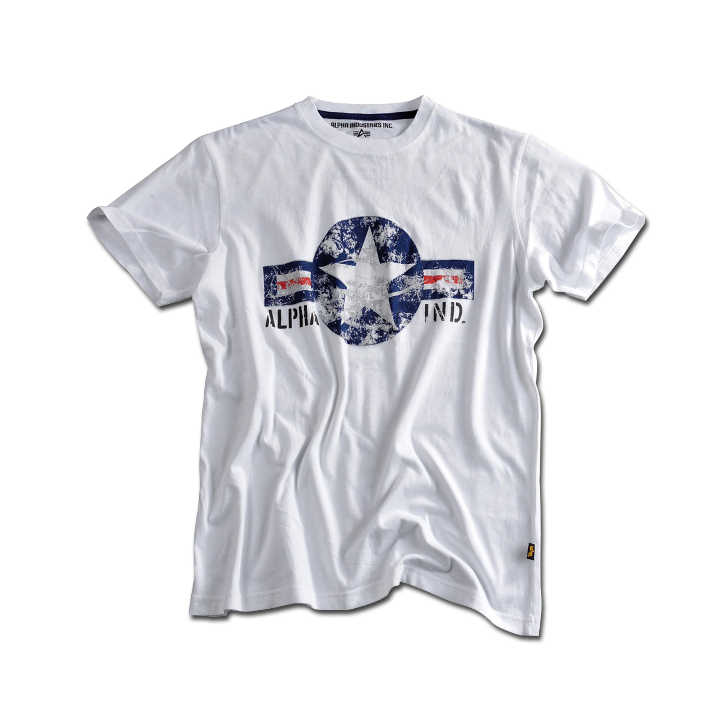 T-Shirt Alpha USAF weiß