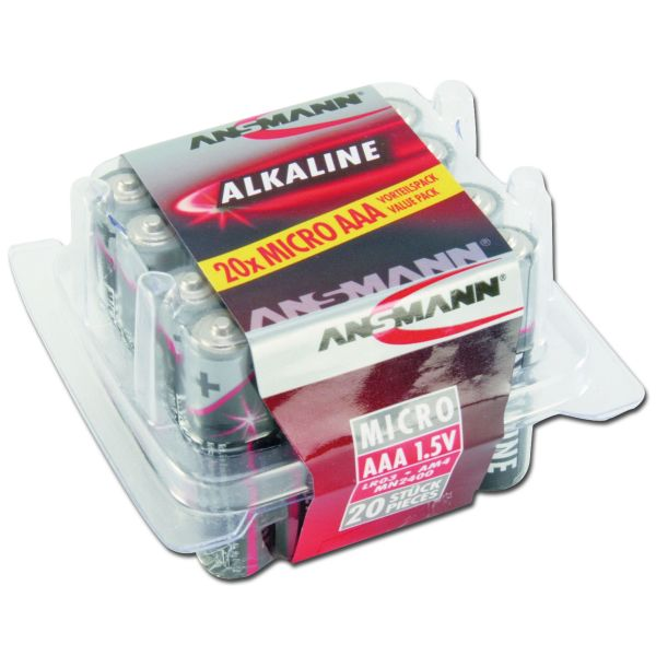 Batterie Ansmann Micro AAA Red-Line 20er-Box