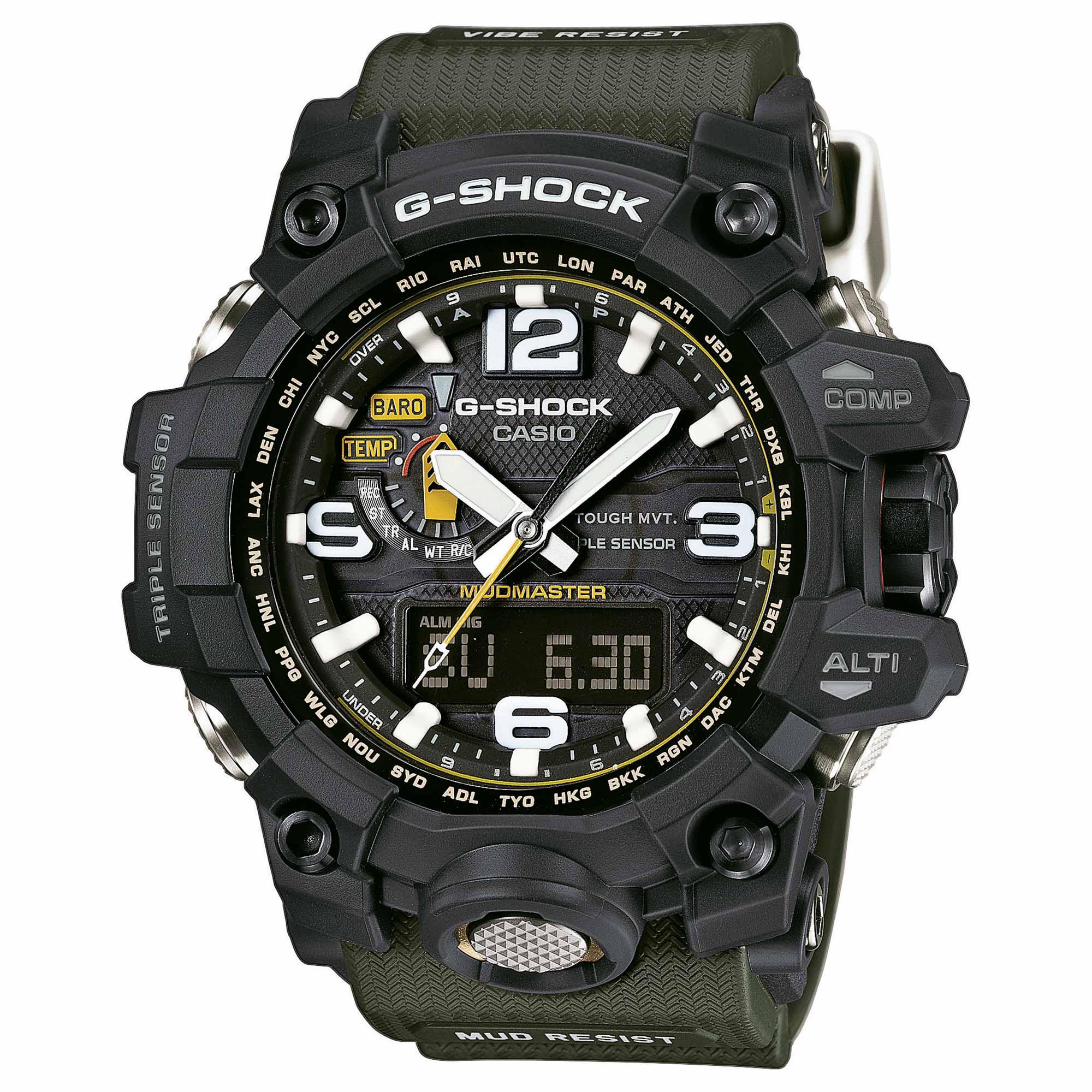 Casio Uhr G-Shock Mudmaster GWG-1000-1A3ER schwarz oliv