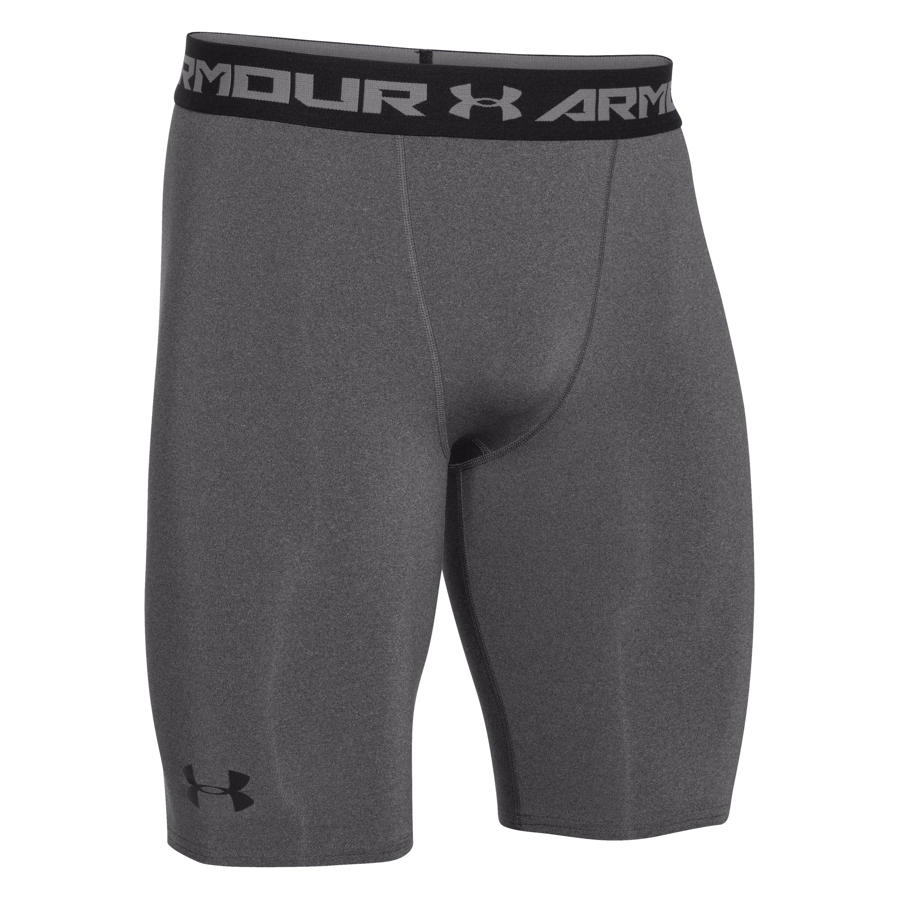 Under Armour Compression Shorts HeatGear lang grau meliert