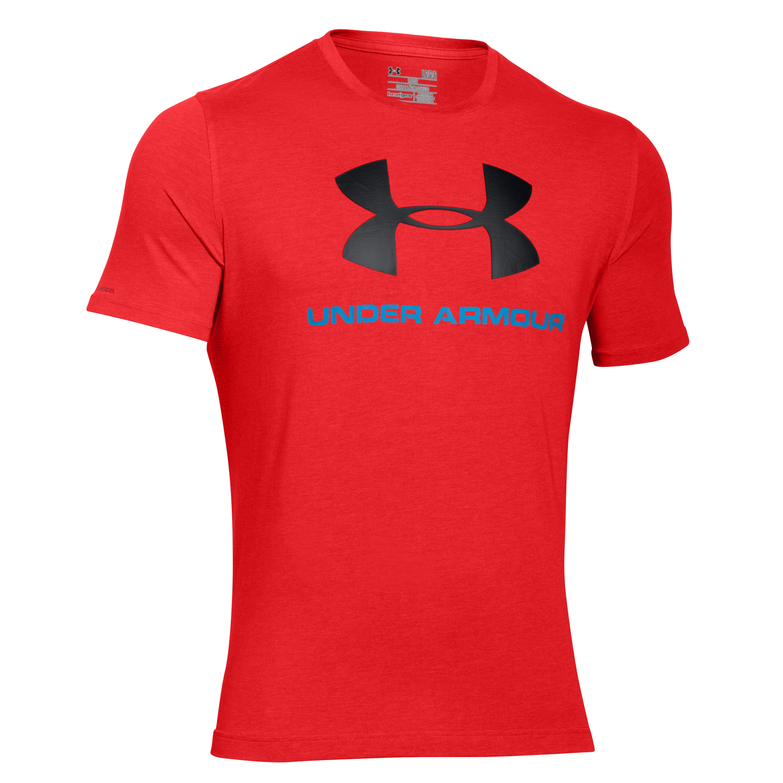 Under Armour Shirt Sportstyle Logo rot-schwarz