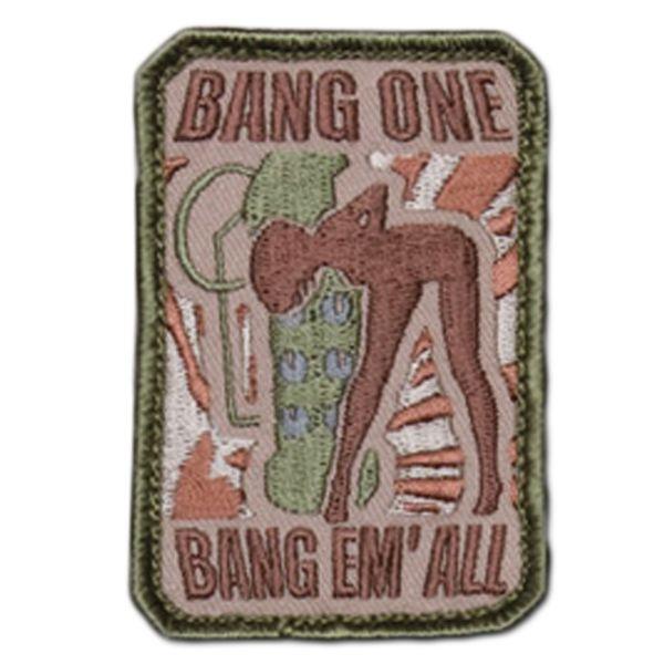 MilSpecMonkey Patch Bang One Bang Em All small multicam