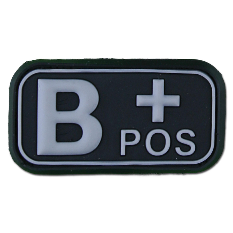 3D Blutgruppenpatch B Pos swat