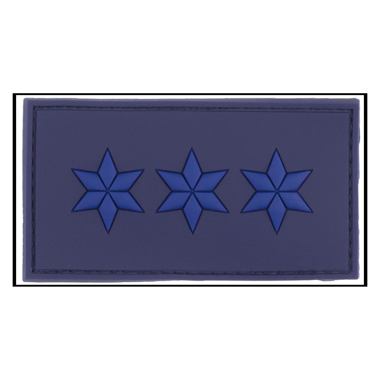 3D-Patch Dienstgradabzeichen Polizeiobermeister polizeiblau