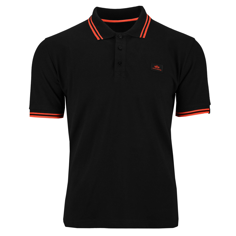 Alpha Industries Shirt Twin Stripe Polo II schwarz/rot