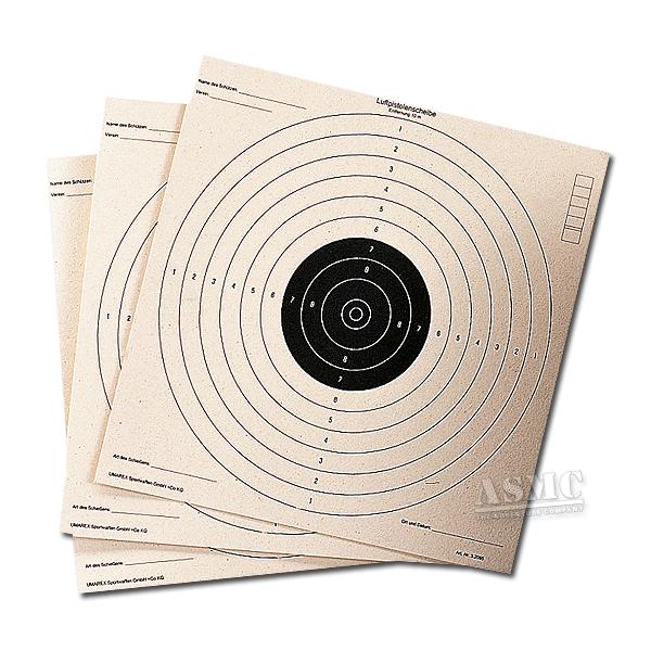 Schießscheiben für Luftpistole 100-er Pack