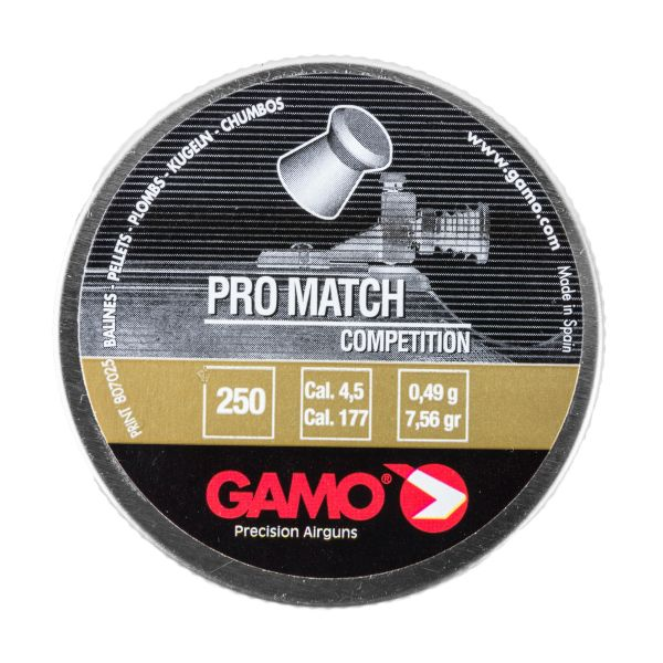 Gamo Diabolos Pro-Match glatt 4.5 mm 250 St.