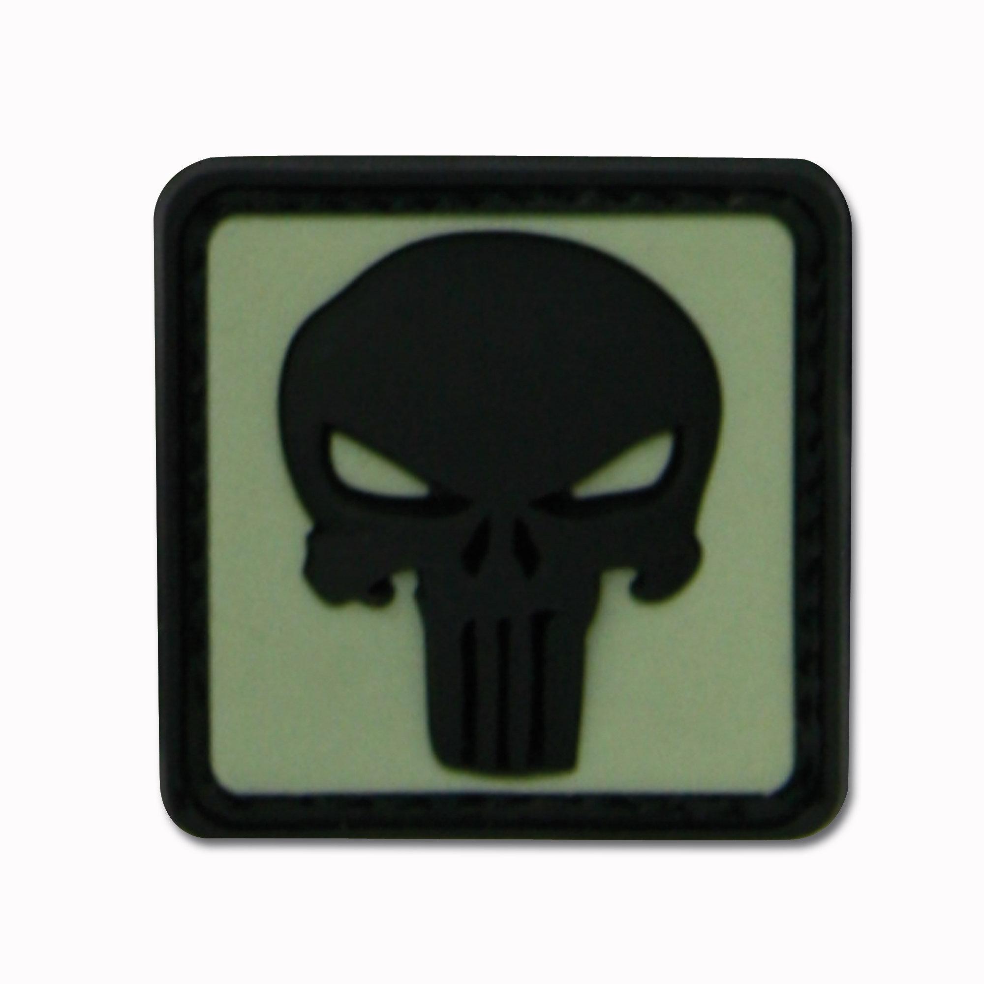 3D-Patch Punisher Skull nachleuchtend invers