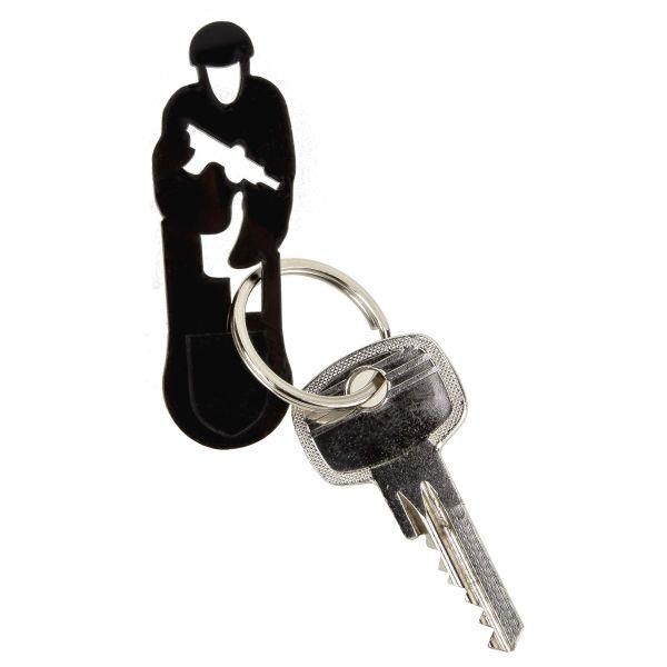 MD-Textil Schlüsselanhänger Einkaufwagentool Stürmender Schütze