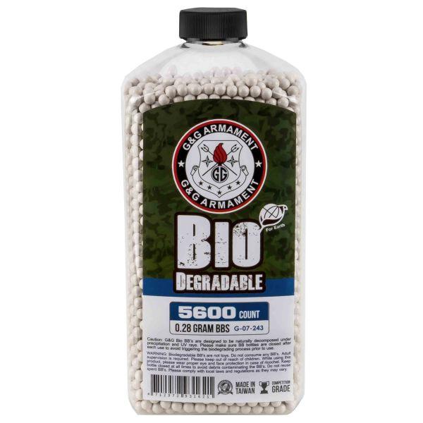 G&G Bio Airsoft BBs 6 mm 0.28 g 5600 Stück weiß