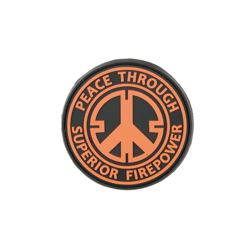 3D-Patch Peace Through Superior Firepower orange