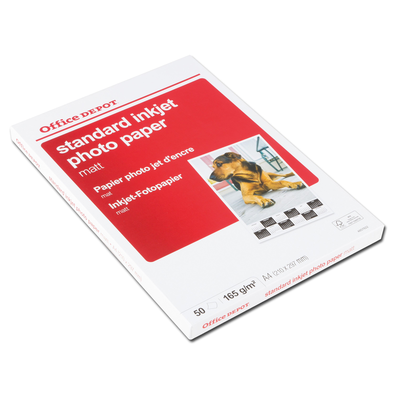 Inkjet Fotopapier A4 weiß matt 165 g/qm 50 Blatt