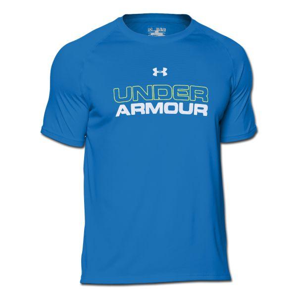 Under Armour Shirt Core Wordmark blau