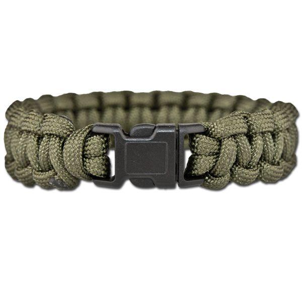 Survival Paracord Bracelet oliv