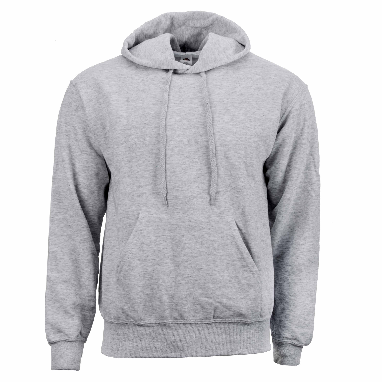 Hood-Sweatshirt grau