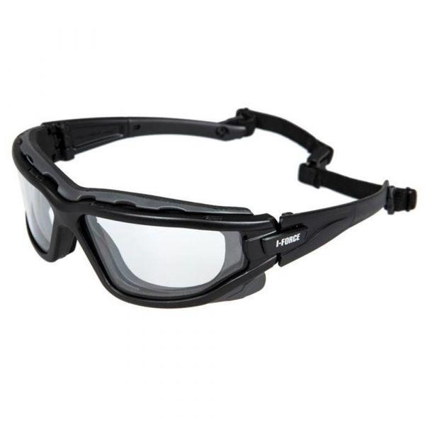 Pyramex Schutzbrille I-Force Clear Antifog Glasses schwarz
