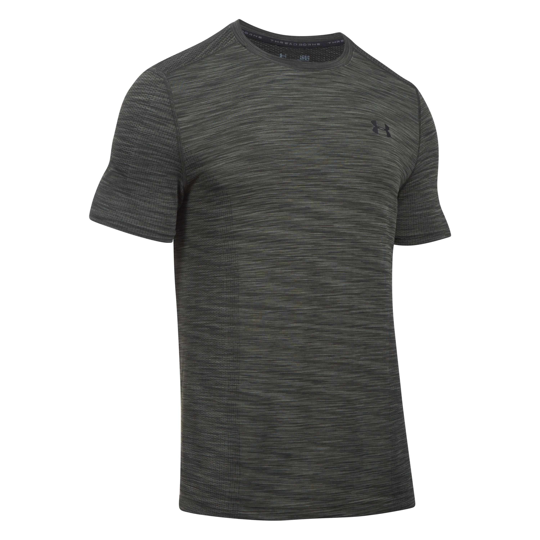 Under Armour Fitness Shirt Threadborne oliv schwarz