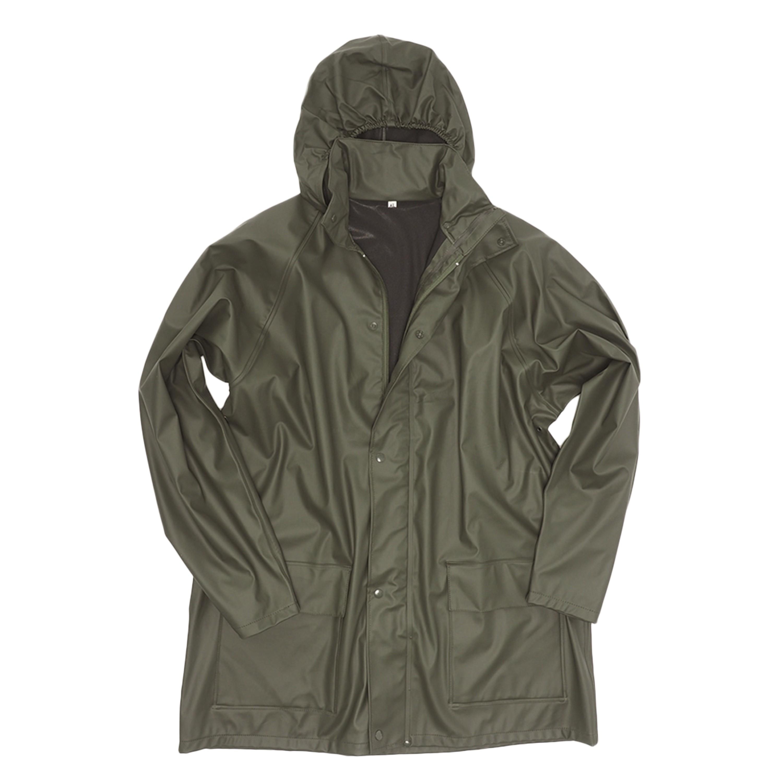 Regenjacke Polyester oliv