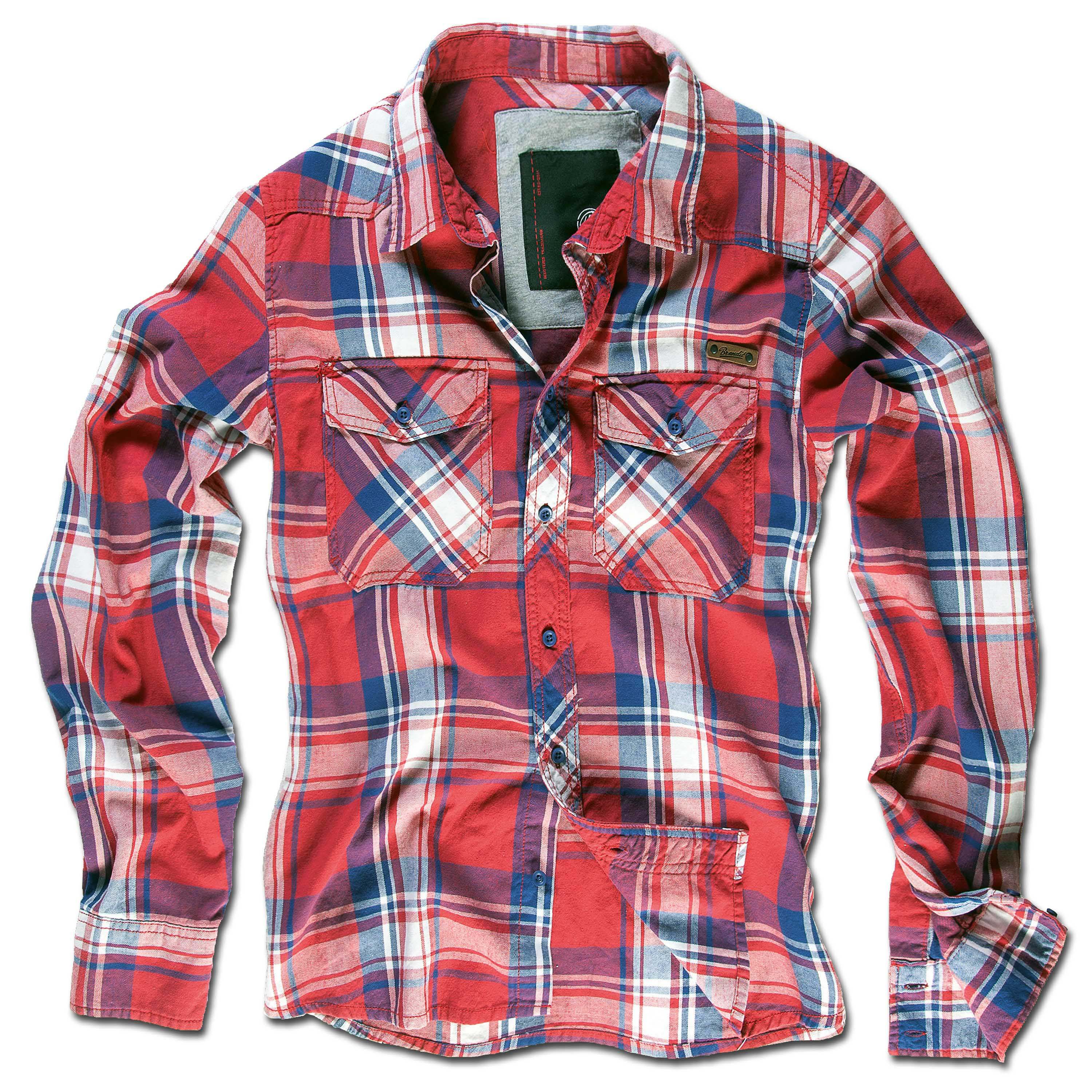 Brandit Checkshirt red