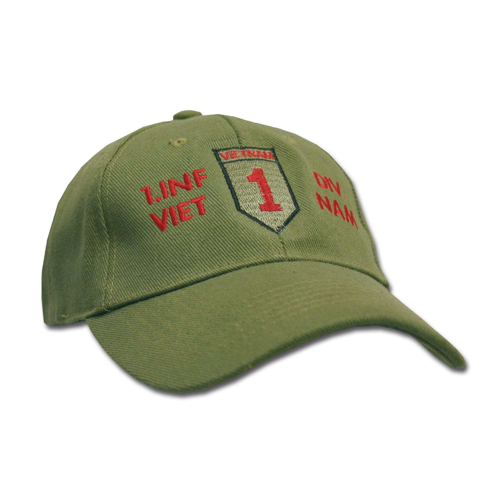 Baseball Cap 1.Inf.Div. Vietnam
