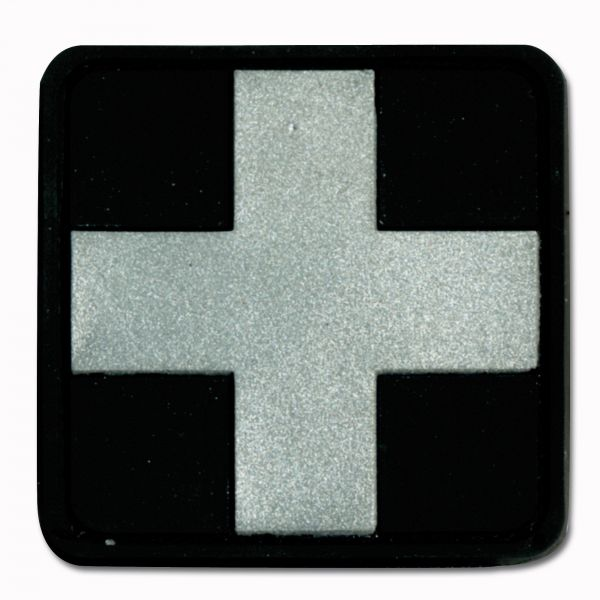 3D-Patch Red Cross Medic schwarz-silber