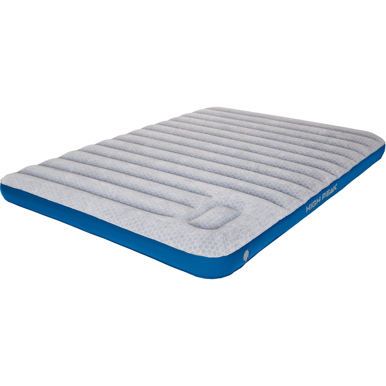 High Peak Luftbett Comfort Plus Double extra lang grau-blau