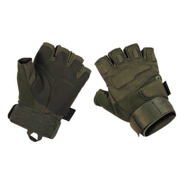 MFH Handschuhe Halbfinger Protect oliv