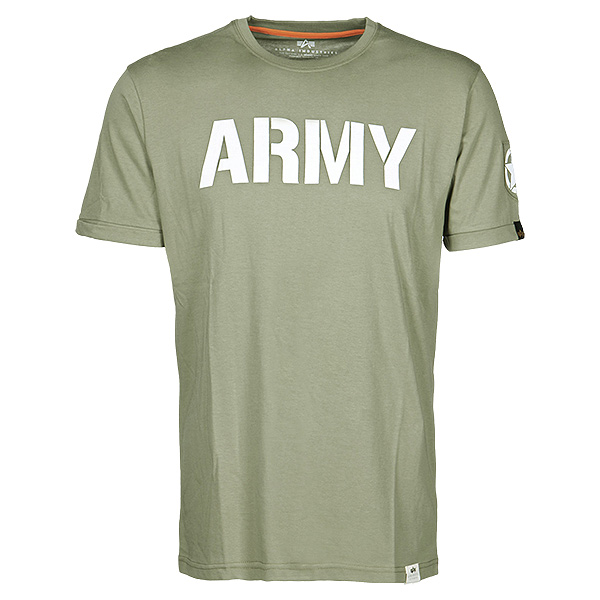 Alpha Industries T-Shirt Army oliv