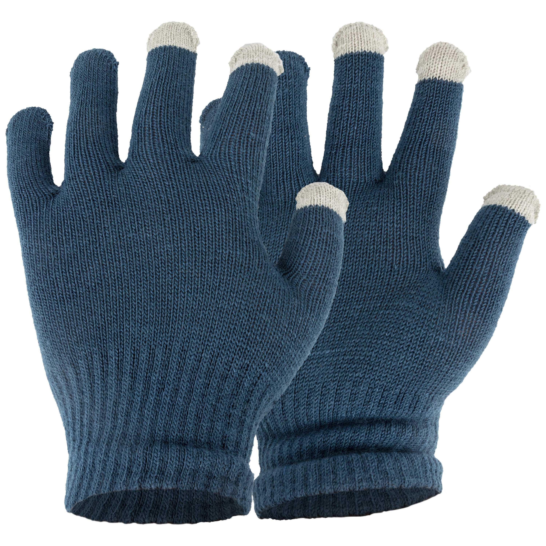 Touchscreen Herren-Handschuhe blau