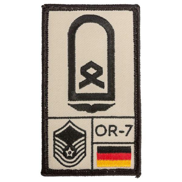 Café Viereck Rank Patch Hauptfeldwebel Luftwaffe sand