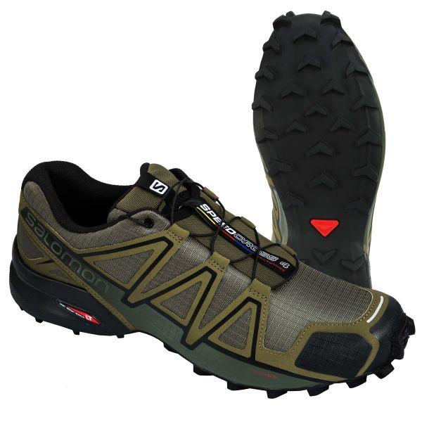 Salomon Schuhe Speedcross 4 oliv schwarz