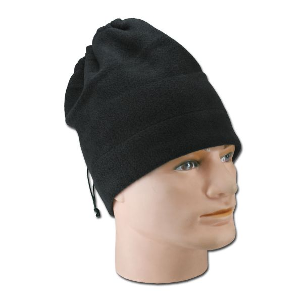 Kopf/Halswärmer fleece schwarz
