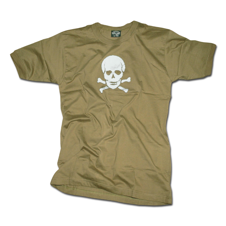 T-Shirt oliv Totenkopf