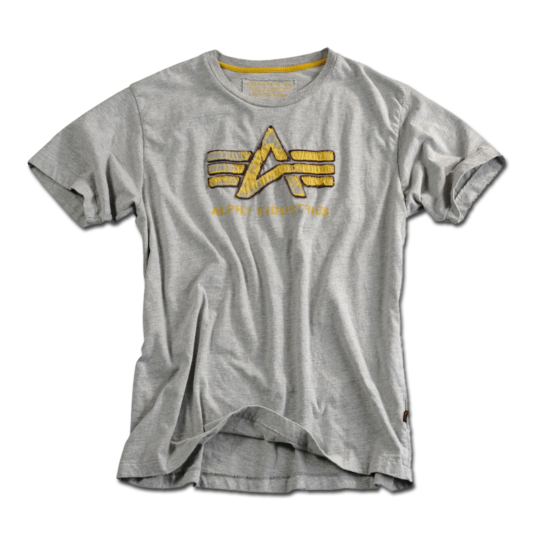 T-Shirt Alpha Industries Big A Vintage grau