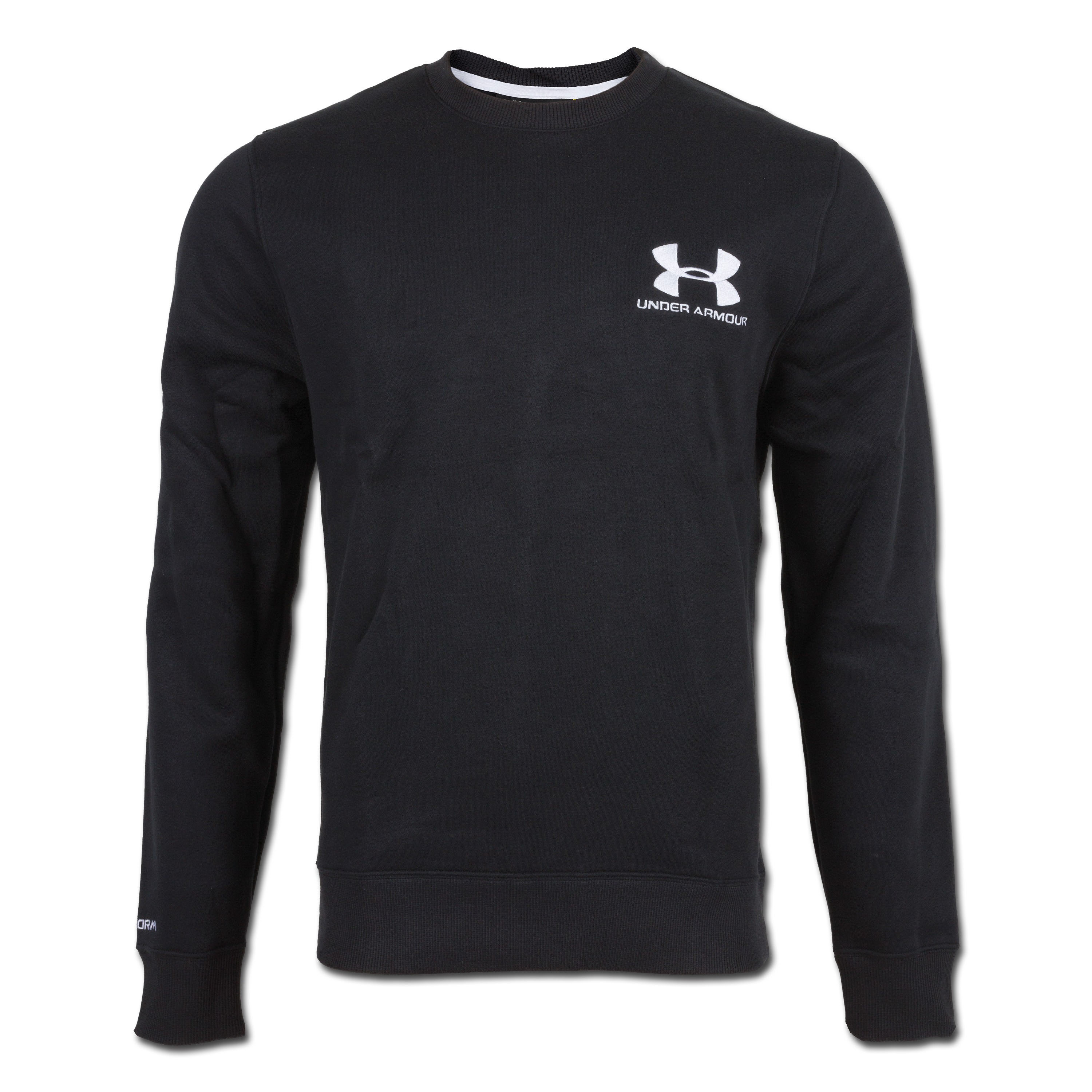 Under Armour Charged Cotton Rival Crew Shirt schwarz
