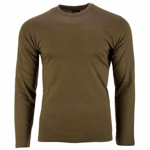 T-Shirt langarm oliv