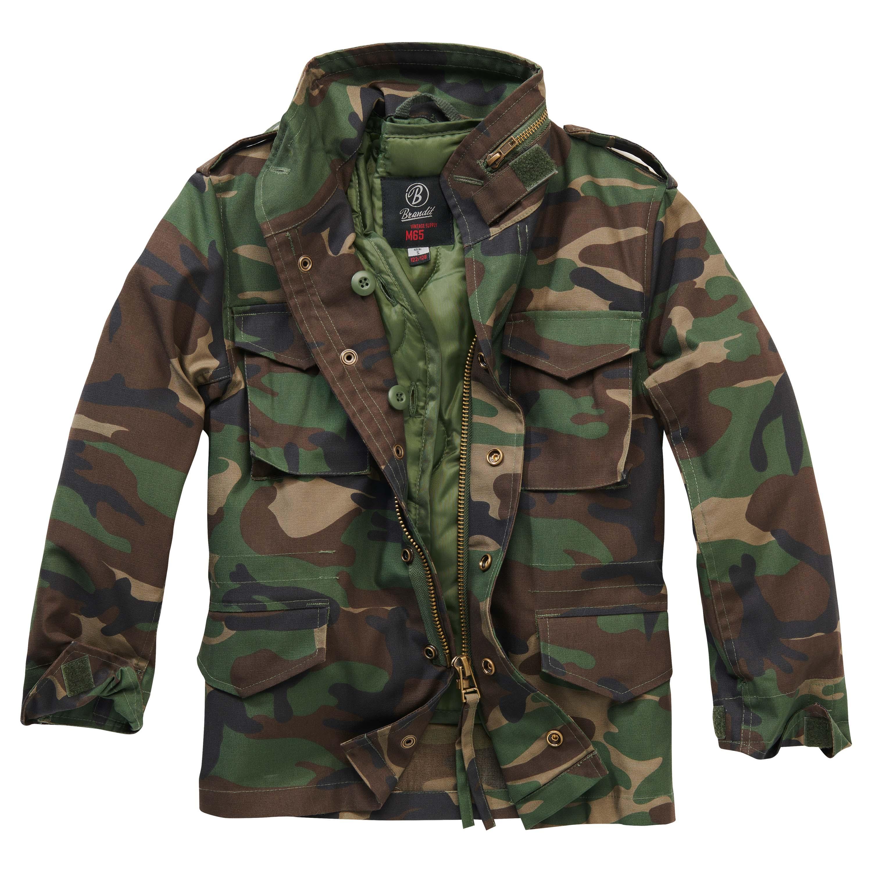 Brandit Jacke M65 Standard Jacket Kids woodland