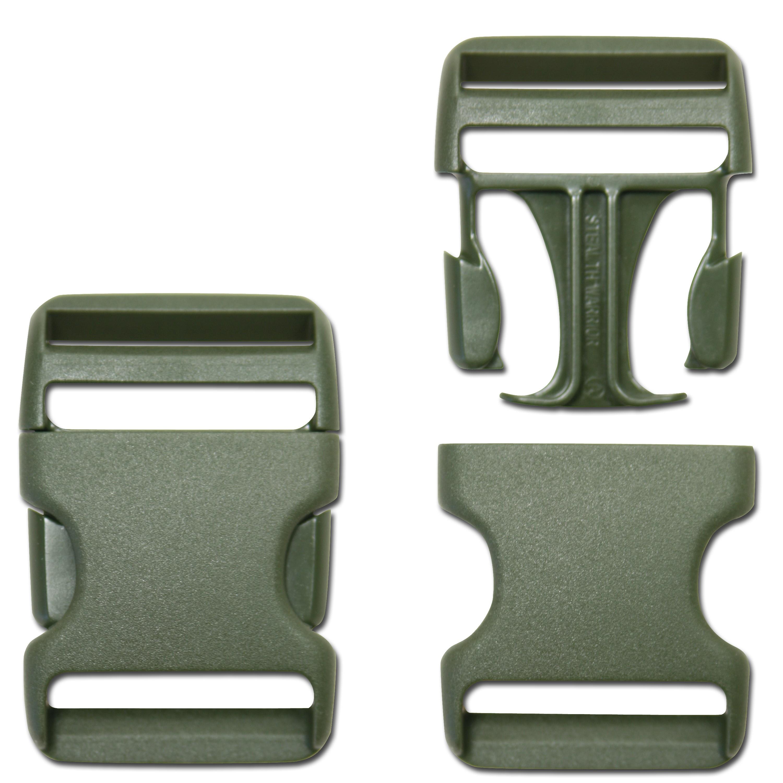 Steckschnalle TT oliv 38 mm