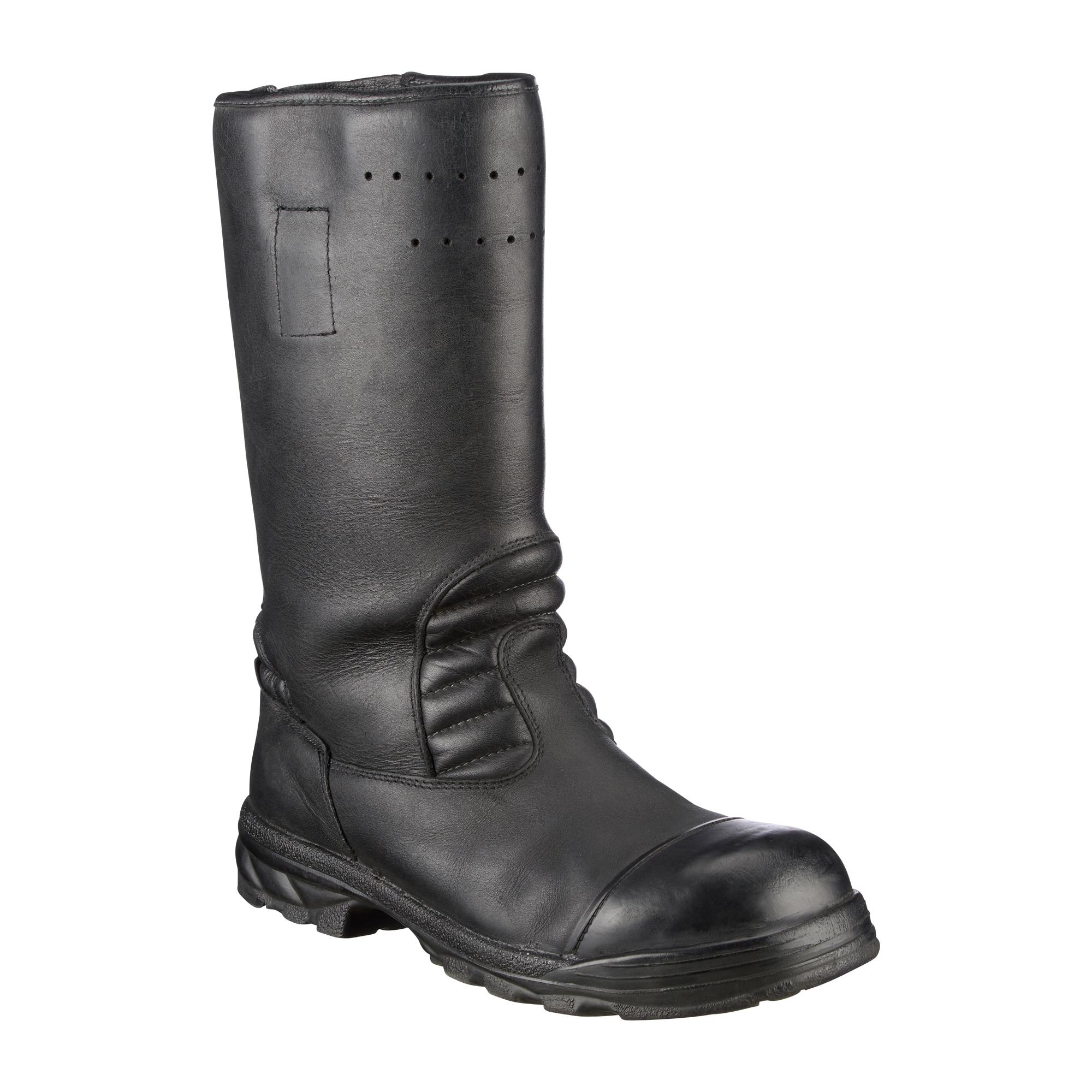 BW Feuerwehrstiefel Leder schwarz gebraucht