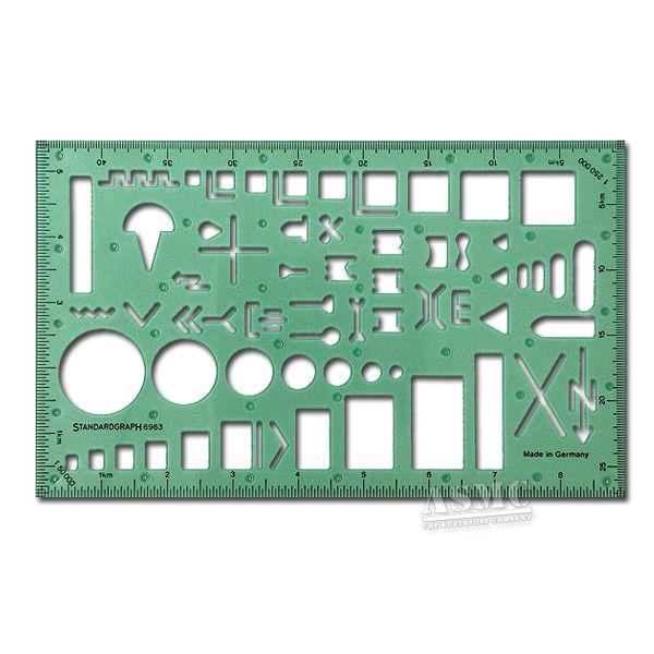 Schablone Militärische Symbole II