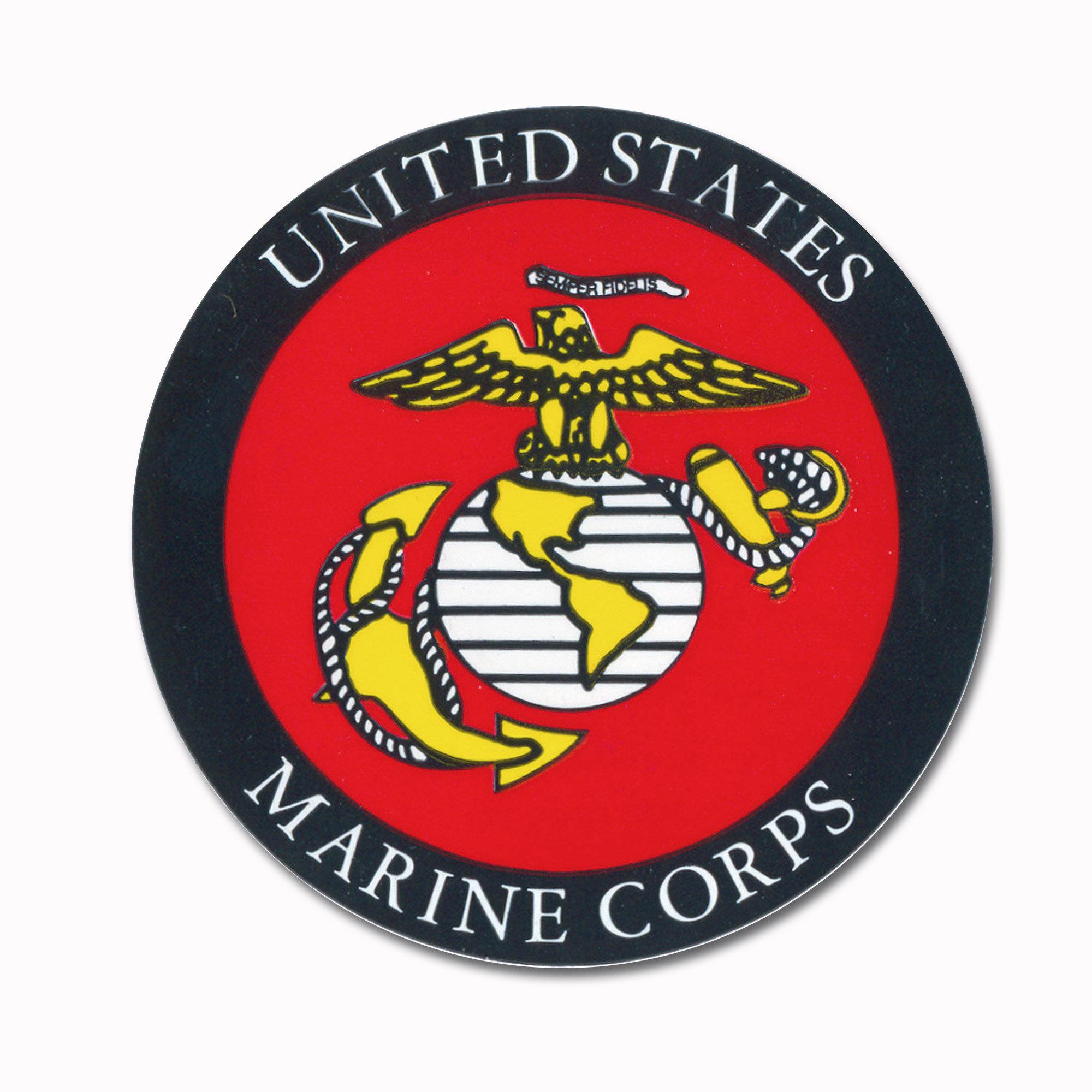 Sticker Marine Corps rund