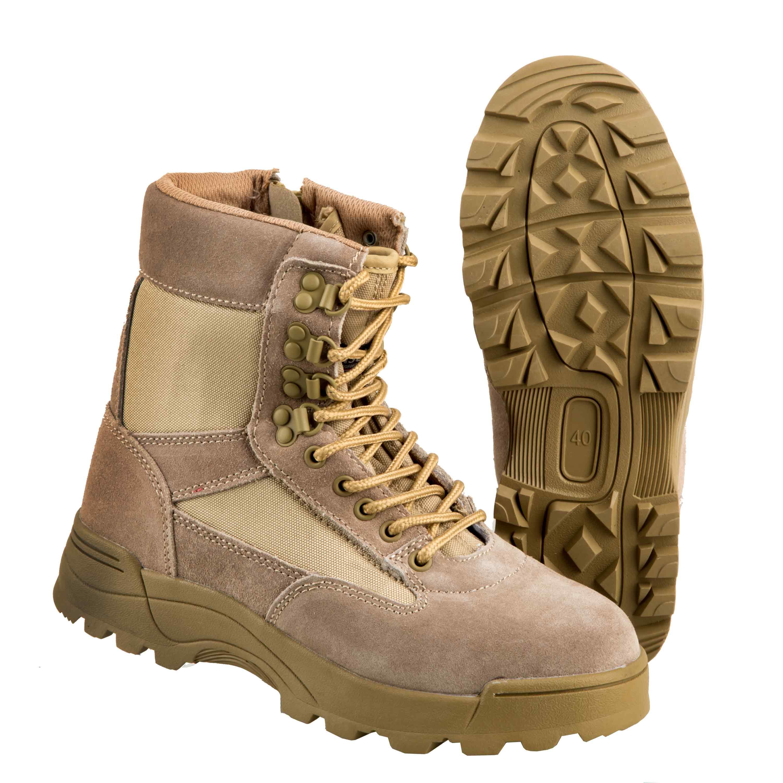 Brandit Boots Tactical Zipper camel